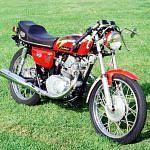 Honda CB125 cafe racer (1972)