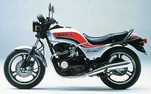 Kawasaki GPZ400F Naked (1985)