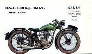 BSA X35-0 (1933-36)